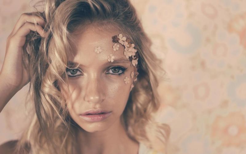 Adelina Tereshchenkova, makeup by Aviva Leah